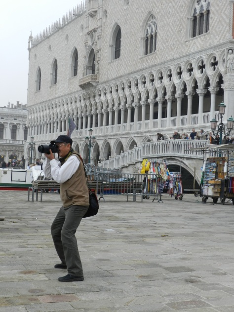 tourist and palazzo ducale
